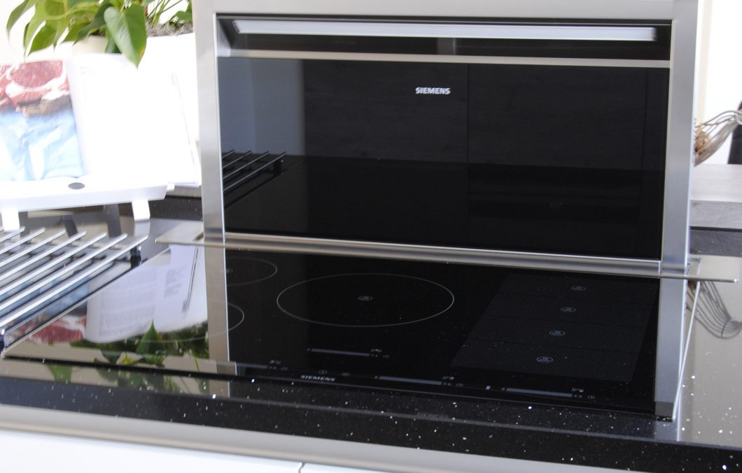 Downdraft in moderne keuken